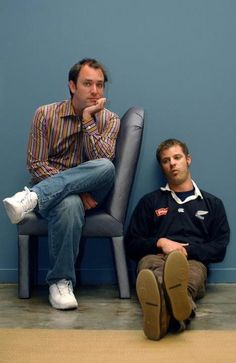 Matt Stone and Trey Parker in a great pose.