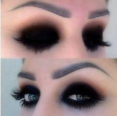 Blacked out smokey eye