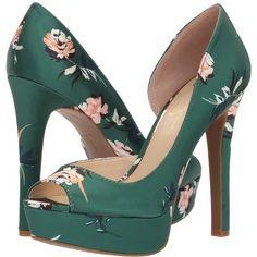 f1cd20fc9a1 Jessica Simpson Martella (Emerald Multi Rylie Floral Satin) High Heels  ( 89) ❤