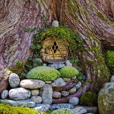We all need a little magic in our lives. But what a lot of us don't need is a tiny garden full of fairy statues with vacant, thousand yard stares. So we've rounded up the twelve most gorgeous, whimsical fairy garden designs, with not a single figurine in sight./