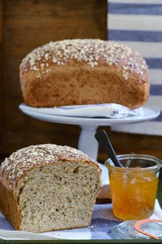 Multigrain Oatmeal Bread From Red Star Yeast Nuts Seeds And Cracked Wheat Give This