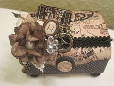 An altered box by Brandy ScrapLovely