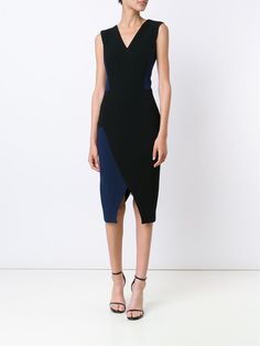 Victoria Beckham colour block dress
