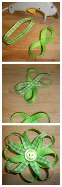 Simple and Easy Ribbon Daisy