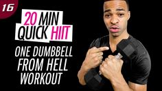 20 Min. One Dumbbell from Hell Workout - Single Weight HIIT Workout | 20...