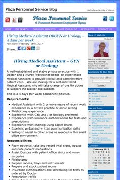 ob gyn offices hiring medical assistants