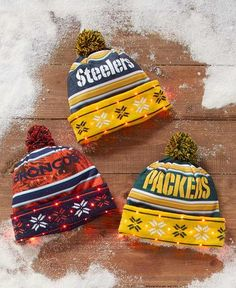 Light Up LED NFL Beanie Winter Hat Pom Pom Gift-16 Different Teams Color  Changing f6f3f10cc