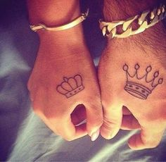 King and queen tats