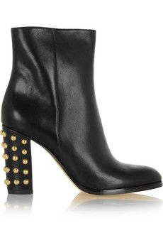 MICHAEL Michael Kors Linden studded leather boots | THE OUTNET