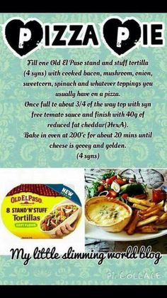 Slimming world pizza pie astuce recette minceur girl world world recipes world snacks Slimming World Pizza, Slimming World Tips, Slimming World Dinners, Slimming World Recipes Syn Free, Slimming Eats, Slimming World Lunch Ideas, Yogurt, Crockpot, Smoothies