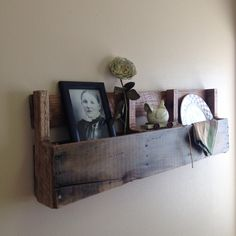 Recycled Pallet Wood Shelving, Rustic Wood Shelving, Shelving, Reclaimed Wood Shelving, Kitchen Shelf by KFarmsWoodworking on Etsy https://www.etsy.com/listing/218800442/recycled-pallet-wood-shelving-rustic