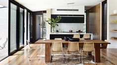 Inside+a+Modern+Home+With+Striking+Blond+Brick+via+@MyDomaine