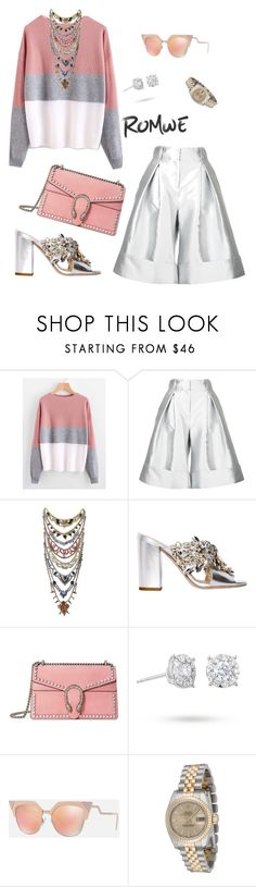 """""""NO such thing as OVERDRESSED 🎀"""" by theetiararoberts ❤ liked on Polyvore featuring Antonio Berardi, Erickson Beamon, GEDEBE, Gucci, Masquerade, Fendi and Rolex"""