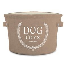 Harry Barker Toy Storage Bin In Brown - Keep your floorspace tidy with the Harry Barker Toy Storage Bin. Crafted of jute this bin features laurel wreaths and will hold all of your dog's toys in style. Dog Toy Basket, Dog Toy Storage, Bin Storage, Storage Basket, Toy Bins, Classic Toys, Pet Accessories, Dog Supplies, Dog Toys