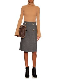 Pelier wrap-front wool-blend skirt | Stella McCartney | MATCHESFASHION.COM UK