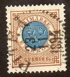 Sweden Scott 49 Used - bidStart (item 29954451 in Stamps, Europe, Sweden)