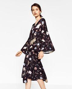 KIMONO-STYLE PRINTED DRESS-DRESSES-WOMAN   ZARA United States