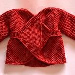 Hand Knitted Reversible Baby Wrap Around Cardigan - by DoverAndMadden on madeit