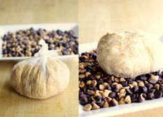 """This Peanut Butter """"Cheese"""" Ball is a creamy peanut butter mixture rolled in chocolate chips and peanut butter chips. Serve with graham crackers or apples for a sure hit! the-girl-who-ate-everything.com"""