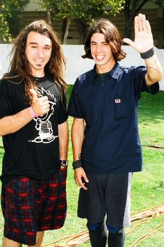 Dave Abbruzzese and Dave Grohl.