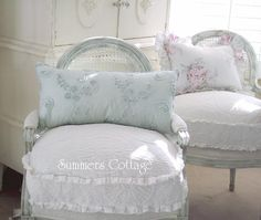 Buy Cottage Chic Pillows with Ruffles and Pink Roses, Shabby Beach Cabana Stripe Blue, Rachel Ashwell Ruching, Round Bahama Ruffles Pillows for you Shabby Chic Cottage Home. Shabby Chic Pillows, Shabby Chic Cottage, Shabby Chic Homes, Shabby Chic Style, Shabby Chic Decor, Chic Bedding, Rustic Chic, King Duvet Cover Sets, Comforter Cover