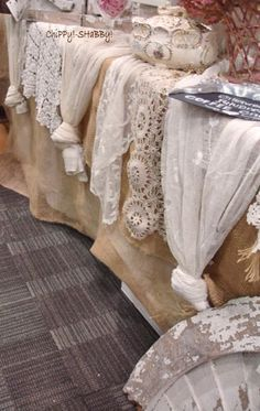 lovely...makes a huge statement and you could find table clothes or curtains at goodwill