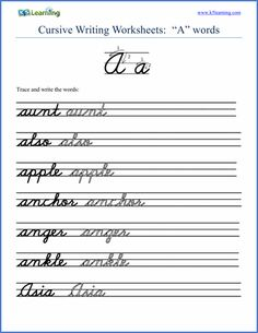 Cursive writing worksheets | cursive | Pinterest | Handwriting ...
