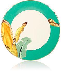 Untitled Homeware Floral Porcelain & Gold Dinner Plate #shopstylecollective #affiliatelink