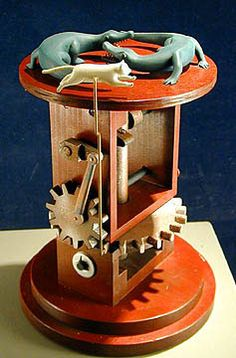 """""""Infinity"""" by Steve Armstrong at the John Pence Gallery, San Francisco. Kinetic Toys, Kinetic Art, Moving Dolls, Steampunk Mechanic, Wooden Gears, Marionette Puppet, Wood Games, Wood Toys, Wood Sculpture"""
