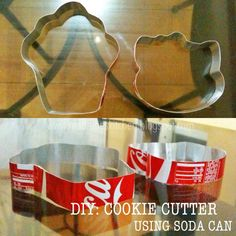 Cookie cutters made from soda tin cans. omg I can't ever forget this Pop Can Crafts, Diy Crafts Tools, Diy Craft Projects, Fun Crafts, Recycle Cans, Diy Cans, Reuse, Upcycle, Diy Cookie Cutter