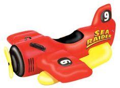 Sea Raider Inflatable Ride-On Seaplane Kiddie Pool Fun SeaRaider 1 Red 9029 NEW #Intex