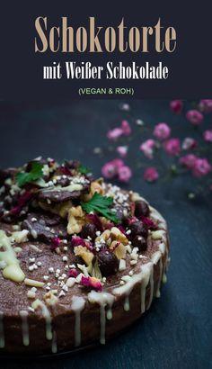 Rezept für eine königliche Schokotorte, extrem lecker und fast ein bisschen gesund ;-) #vegan #raw #roh #schokotorte #weißeschokolade #schokoladentorte #gesund  #clean eating #paleo