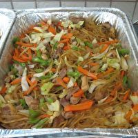 Pancit Bihon (rice sticks) by Lori Subeldia (co-worker)