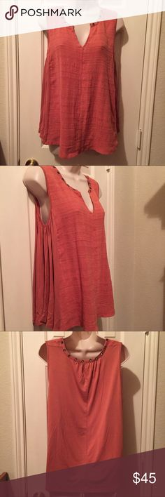 Cute Cable and Gauge Shirt Pretty rust color with grommet detail. NWT, size is medium. Cable & Gauge Tops Blouses