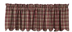 "Everson Lined Scalloped Curtain Valance 72"" x 16"""
