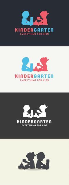 KinderGarten Logo Design + Fonts