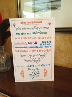Favorite Husband Birthday Card from Favorite Wife by Linsartwork, $4.95 Birthday Sentiments, Card Sentiments, Birthday Cards, Hubby Birthday, Happy Husband, Card Sayings, Life Purpose, Special Occasion, Give It To Me