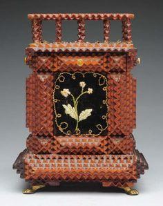 Tramp Art Highly Ornate Box.
