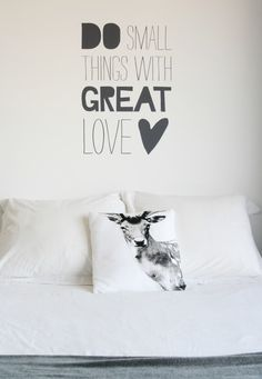 Muursticker - Do small things with great love Interior Inspiration, Design Inspiration, Design Ideas, Desk Layout, Lounge, More Than Words, Words Quotes, Sayings, Decoration