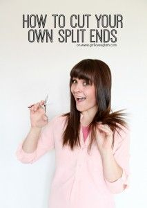How to Cut Your Own Split Ends - Girl Loves Glam