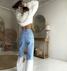 Looks Street Style, Looks Style, Mode Outfits, Fashion Outfits, Womens Fashion, Fashion Hair, Queer Fashion, Vest Outfits, Jeans Fashion