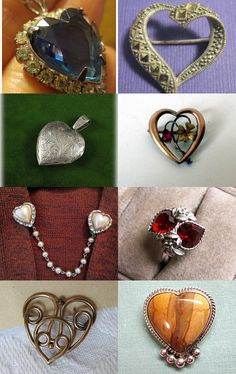 """Heart Pin Collection - """"Be Still My Heart"""" GVS EcoChic Treasury --Pinned with TreasuryPin.com"""