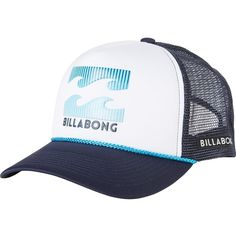 Billabong Amped Trucker Hat (19 CAD) ❤ liked on Polyvore featuring accessories, hats, mesh back hats, snapback hats, billabong hat, trucker hat and billabong