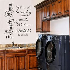 Laundry Room Decal Laundry Decal 2 Vinyl by RoyceLaneCreations, $10.00