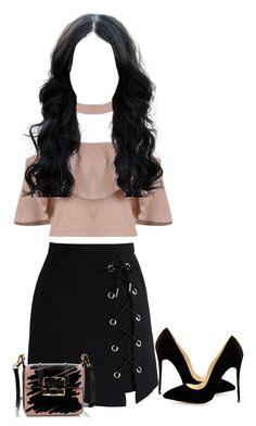 """""""pretty in pink"""" by lyricjay ❤ liked on Polyvore featuring Chicwish and Lanvin"""