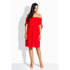 Red Off-shoulders Casual Dress Off Shoulder Casual Dress, Off The Shoulder, Womens Fashion, Collection, Dresses, Vestidos, Women's Fashion, Dress, Woman Fashion