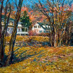 Jaune printemps (maison du plateau les Éboulements Charlevoix), by Raynald Leclerc