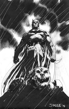Drawing Dc Comics Batman by Jim Lee * - Batman Drawing, Batman Artwork, Batman Wallpaper, Jim Lee Batman, Batman Vs Superman, Batman Fight, Dc Comics, Batman Comics, Damian Wayne