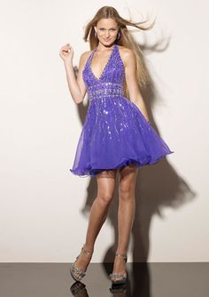 Isabel's Dress in Purple