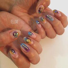 relum.officialrelum人気デザインです⭐️ ご来店ありがとうございます #nail#nails#nailart#ネイル#クリアネイル#塗りかけネイル#ニュアンスネイル#リルム#relum#恵比寿